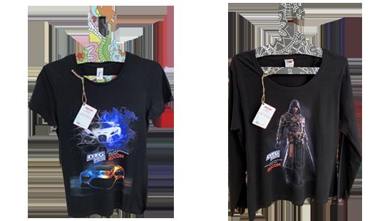 Печат върху черни тениски и суичъри