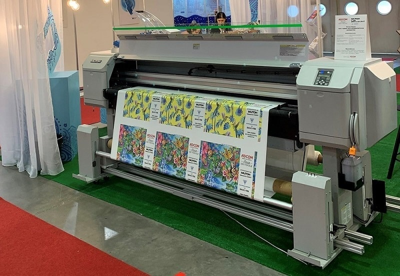 Adcom Booth TMT Expo 2019 Mutoh ValueJet 1938TX