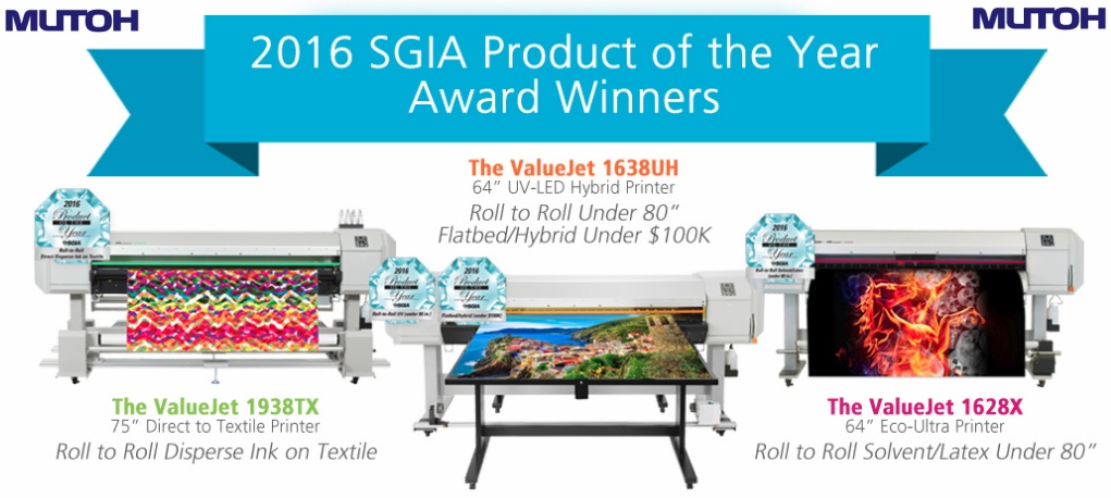 Mutoh Awards SGIA 2016 POTY