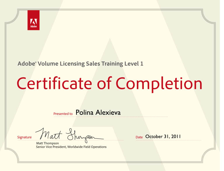 Certificate Poly Adobe